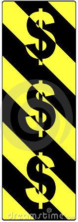 Dolarowego znaka znaków ruch drogowy ostrzeżenie