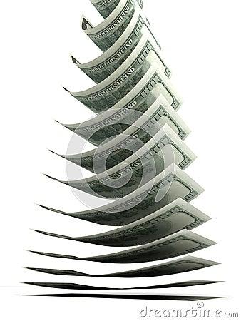 Dolarowy spadać