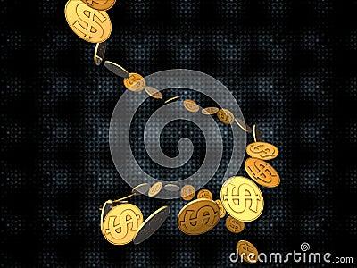 Dolarowy złoty strumień