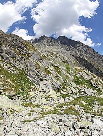 Dolina do studena de Mala - vale em Tatras alto, Eslováquia