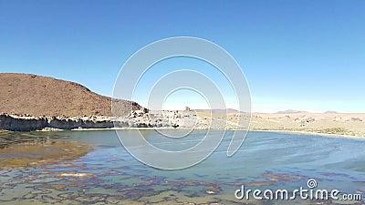 Dolina skały w Altiplano Boliwia blisko Uyuni soli mieszkań zdjęcie wideo