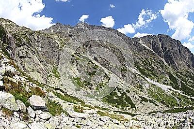 Dolina studena Mala - κοιλάδα σε υψηλό Tatras, Σλοβακία