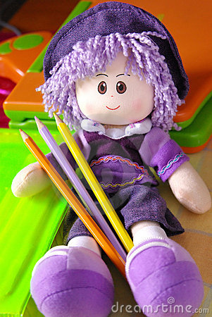 Free Doll And Pencils Royalty Free Stock Photos - 4662948