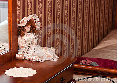 Doll decoration in bedroom