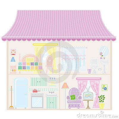 Free Doll House Royalty Free Stock Photos - 8872838