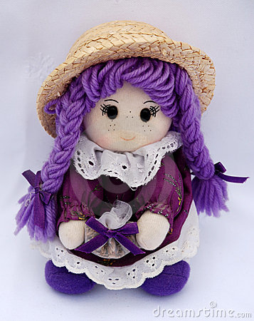 Free Doll In Violet Stock Photography - 2417312