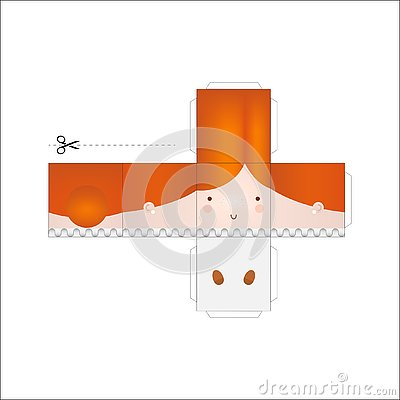 Free Doll Paper Model. Stock Photography - 126409672