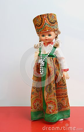 Doll in Russian national suit