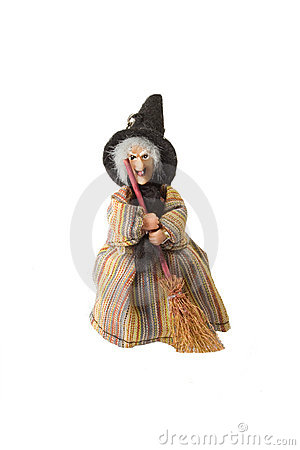 Doll of the witch on isolated