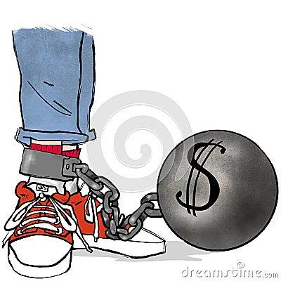 Dollar ball and chain