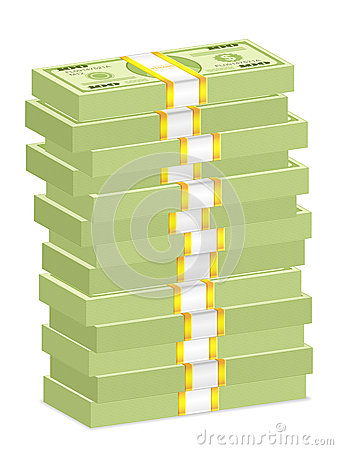 Dollar banknote stacks