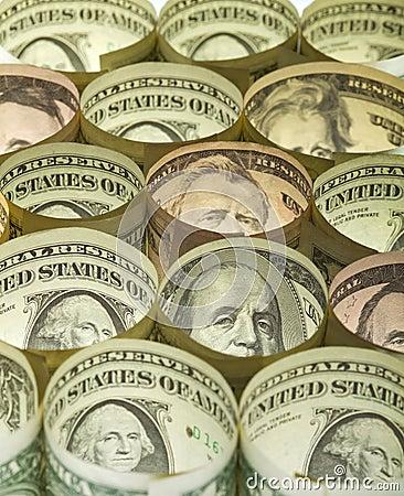 Dollar banknotes money background