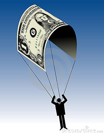 Dollar bill as a parachute