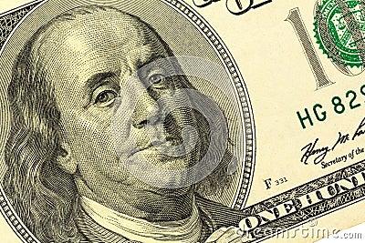 Dollar bill, benjamin franklin