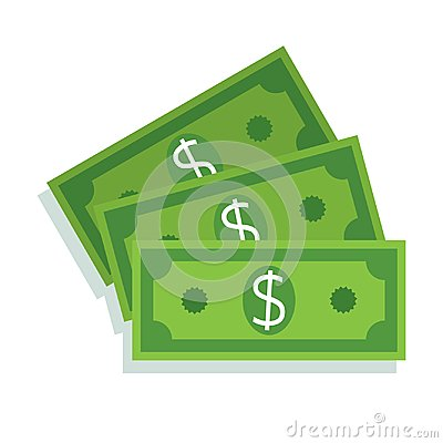 Free Dollar Bill Icon. Money Cash Stock Image - 113179381