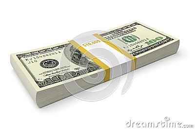 Dollar bills stack