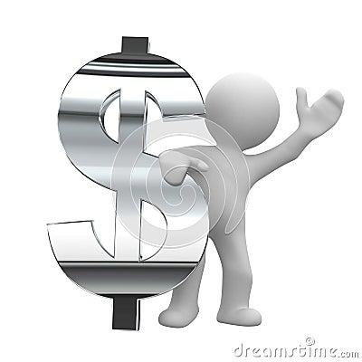Free Dollar Chrome Symbol Royalty Free Stock Images - 3440359