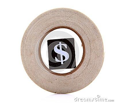 Dollar in circle