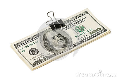 Dollar with clip