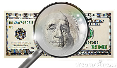 Counterfeit dollar Stock Photo