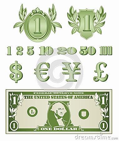 Dollar Details Vector