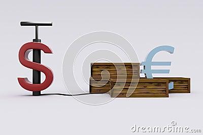 Dollar detonating the Euro