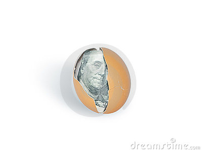 Dollar into egg