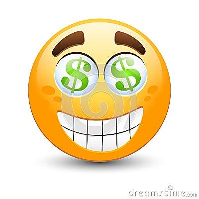 dollar emoticon stock image image 17374441