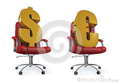 Dollar and euro office chair