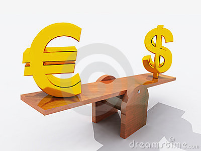 Dollar and Euro on seesaw