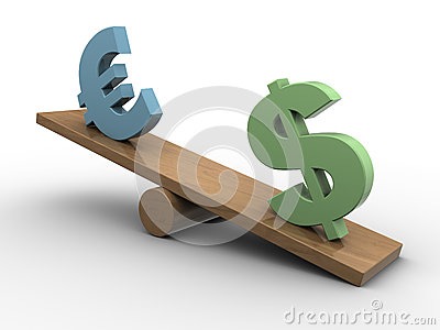 Dollar and euro seesaw