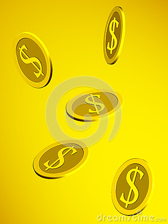 Dollar golden coins