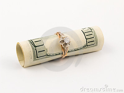 Dollar and golden ring