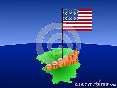 Dollar graph on Illinois map
