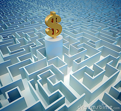 Free Dollar In Maze Royalty Free Stock Photography - 11735097