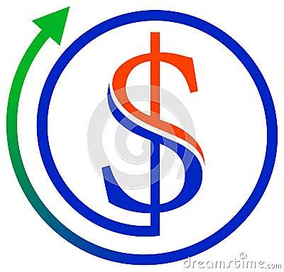 Dollar mit Pfeil