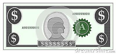 Dollar money bill