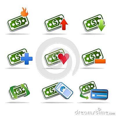 Free Dollar Money Icon Set  Stock Photos - 10613603
