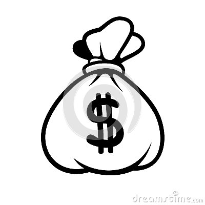 Free Dollar Money Icon With Bag. Vector. Royalty Free Stock Images - 40657459
