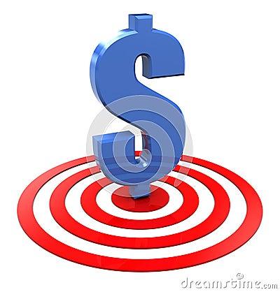 Free Dollar On Target Stock Photo - 14636680