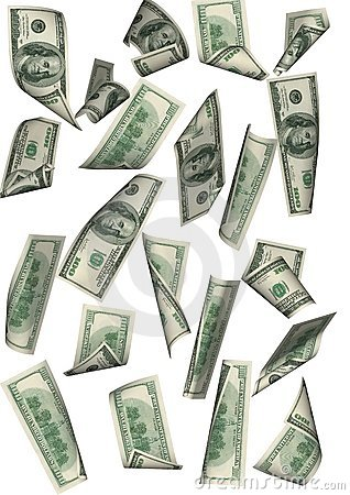 Free Dollar Rain Isolated Far Betwe Stock Photos - 2289823