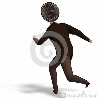The Dollar Runs Away Stock Photos - Image: 9283553