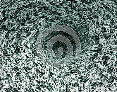 Dollar s flow in black hole