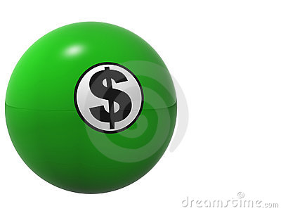 Dollar Sign Billard Ball