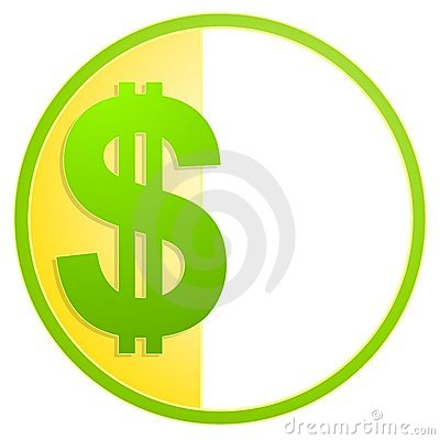 Dollar Sign Cash Icon or Logo
