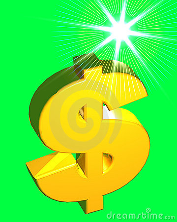 Dollar Sign (on green)