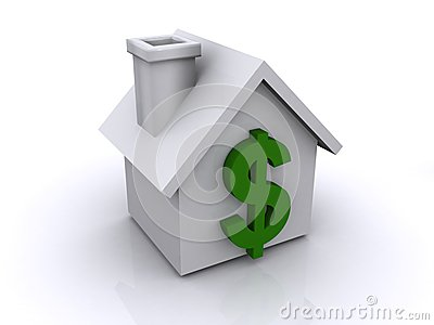 Dollar sign on house or home