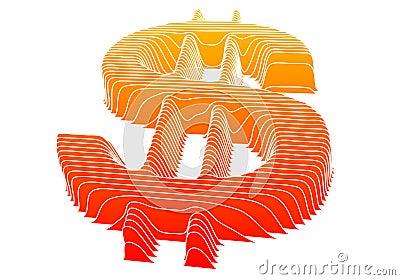 Dollar sign, vector