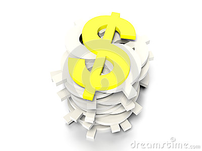Dollar signs concept graphic
