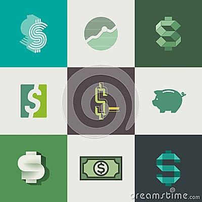 Dollar signs design. Vector illustration